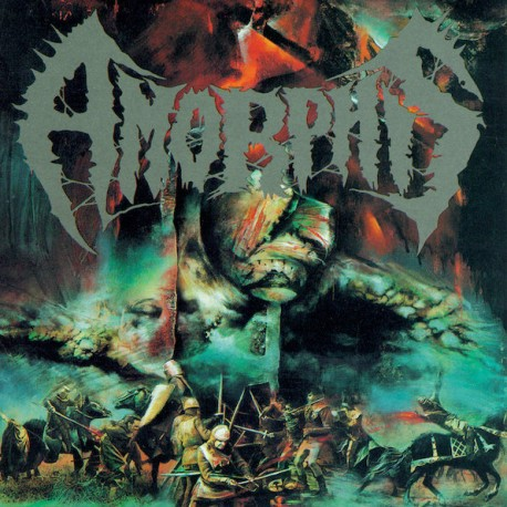 Amorphis - The Karelian Isthmus Reissue LP Metallic Silver Inside Clear with Blood Red, Bone White and Aqua Blue Splatter