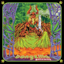 Bongzilla - Gateway LP Kelly Green with Purple, Halloween Orange and Doublemint Green Splatter