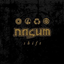 Nasum - Shift LP Gold and White Merge with Black, Gold, and Red Splatter
