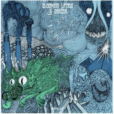 "BLOOMING LÁTIGO & GARÜDA · Split 12"" LP (black)"